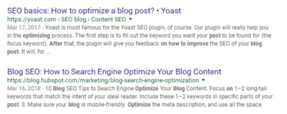 how to optimize a blog post