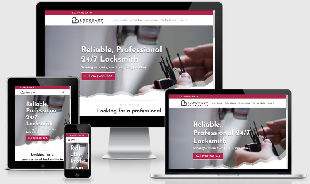 Vision Marketing locksmith website